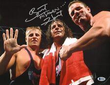 Bret Hart Signed WWE 11x14 Photo BAS Beckett COA Picture w/ Owen Davey Boy Smith