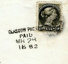 CANADA GB TRANSATLANTIC Cover Centreville *GLASGOW PACKET/PAID* 1882 EP456