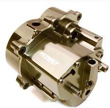Integy Billet Aluminum Center Gear Transmission Box for Traxxas T-Maxx Grey