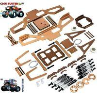 alu Chassis/bumper/shock/wheeile bar/snow plow for TAMIYA Clodbuster/Bullhead