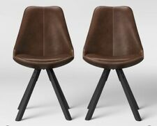 Set of 2 Russel Faux Leather Dining Chair Brown - Project 62