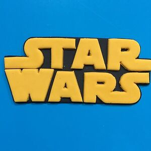 Star Wars Logo Edible Cake Toppers X1 Yellow Or Choose Your Own Colour