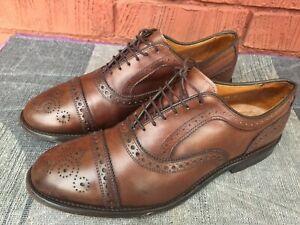 ALLEN EDMONDS MEN'S Strand cap-toe lace up Oxfords Dress shoes.