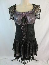 Junior's Corseted Costume Dress - Metallic Light Purple/Black - Junior's M