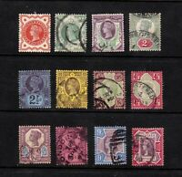 Great Britain stamps #111 - 122, used, Queen Victoria, full set,  SCV $275.55