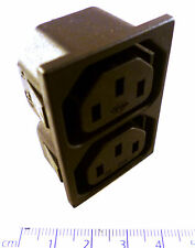 Kautt And Baux Twin IEC Chassis Mount Socket 10A 250V Push Fit OM0433