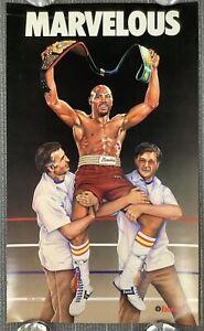 Marvelous Marvin Hagler Poster 15x25 Etonic Boxing Champion HOF Irena Roman