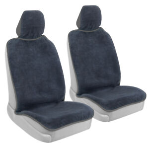 2-Pack BDK Car Seat Cover for Front Seat - Waterproof Towel with Gray Trim