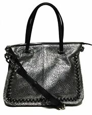 NWT orYANY Woman's Leather/Suede Satchel, Silver Adjustable/Removable Strap $489