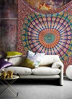 Mandala Cotton Wall Hanging Bohemian Bedspread Bed sheet Hippie boho TA03