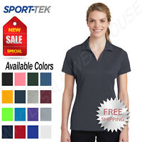 Sport Tek Womens 100% Polyester Dri-Fit Performance Polo  Golf Shirt M-LST640