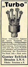 Gustav fangosos, Dresde/Teschen caldera piedra-limpiador turbo histor. publicidad 1912