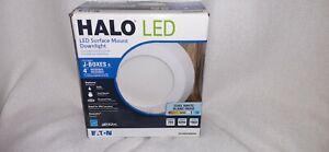 Halo SLD 4 in. White LED Recessed Retrofit Ceiling Mount Light Fixture 90 CRI