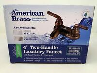 """American Brass Camper RV 4"""" 2 Handle Faucet Oil Rubbed Bronze 0B770RB-ARC New"""