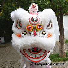 Hot Chinese Folk art Lion mascot Dance Costume wool Southern Lion For two adults
