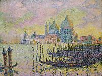 PAUL SIGNAC GRAND CANAL VENISE OLD MASTER ART PAINTING PRINT 2320OMA