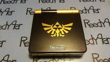 Black & Gold Zelda GameBoy Advance SP *MINT* AGS-001 Custom Nintendo System gba