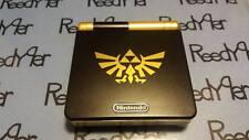 Black & Gold Zelda GameBoy Advance SP *MINT* AGS-101 Brighter Nintendo System gb
