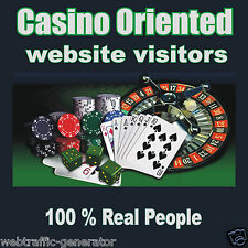 25,000 Real Visitors! CASINO TARGETED website traffic! 100% Adsense Safe!