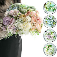 30cm Silk Peony Bunch Artificial Flowers Fake Rose Bouquet Party Decor