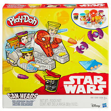 Disney Star Wars b0002-Play-doh Millennium Falcom con can-heads - Hasbro