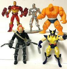 Vintage Marvel Superheroes Toy Biz Action Figure Lot Of 5 Loose Iron Man Thing