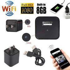 Mini WIFI 8GB 1080P Spy Hidden IP Camera Wall Charger USB Adapter Wireless Cam