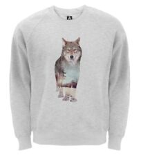 Wolf Graphic Cotton Hoodies & Sweats for Men