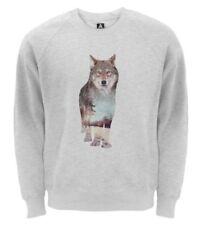 Wolf Regular Size Hoodies & Sweatshirts for Men