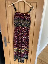 Urban Gypsy Cropped Wide Leg Patterned Jumpsuit - S (8/10) - Black / Red