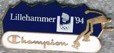 1994 Lillehammer Champion Speed Skating Olympic Games Mark Sports Sponsor Pin