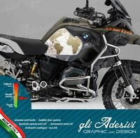 2 Adesivi Fianco Serbatoio Moto BMW R 1200 gs adventure LC 2018 world map old