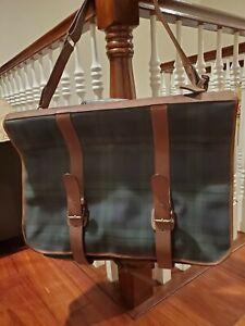 Polo Ralph Lauren Vintage Rare Duffle Signature Garment Bag Travel Carry-On Bag