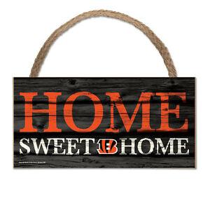 NFL Cincinnati Bengals Home Sweet Wood Sign Wooden Wall Decoration Decor