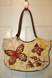 Brighton Embroidered Butterfly Design Handbag