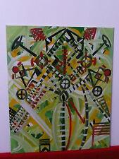 Peinture à huile de l'artiste Aubertine Lescoat tableau toile abstraite