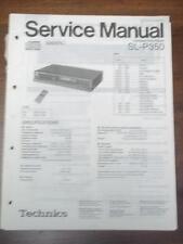 Technics Service Manual for the SL-P350 CD Player~Repair~Original