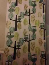 Allure Owl Tree Peva Shower Curtain Green White New