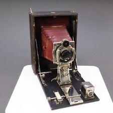 > Antique Kodak Premo Film Plate 5x7 Folding Camera Red Bellows & B&L Lens