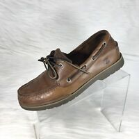 Sperry Top-Sider Men's Boat Shoes Brown Leather Size 8.5 M