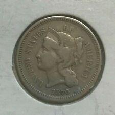1870 Nickel 3 Cent Piece