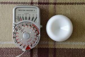 Weston Master V Exposure Meter with Leather Case + Invercone and Working Well
