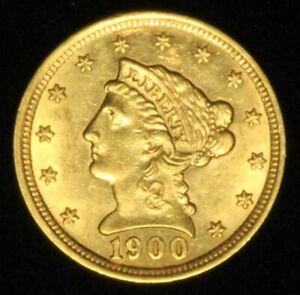 1900 $2.50 Gold Liberty Quarter Eagle - Free Shipping USA