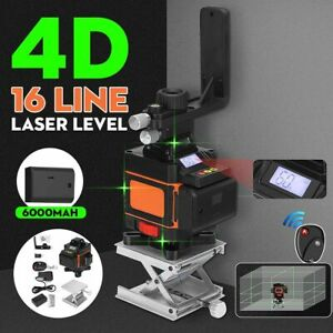 Laser Level 4D 16 Lines Green Light LED Display Auto Self Leveling 360° Rotary