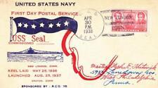 1938, USS Seal SS-183, 1st Day Postal Service (N5200)