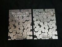 1999-2008 P&D BU Full Set 100 State Washington Quarters + 2 Mint Harris Albums