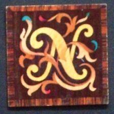 """1932 Garbaty Tarso Holzbilber Wood Tile Cigarette Card """"N"""""""