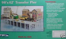 WOOD PIER 98' X 42' TRANSFER PIER KIT , IHC HO  KIT NS