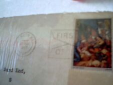 Christmas 1967 - Great Britain - First Day of Issue - Stamp on Envelope