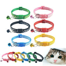 Cat Collar with Safety Breakaway Buckle Nylon Necklace for Kitten Kitty XXS XS S
